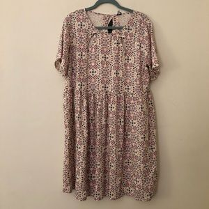 NWT Simply Be Patterned Babydoll Dress